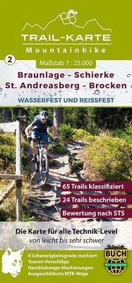 MTB Trail-Karte Harz: Braunlage - Schierke - St...