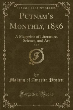 9780243995813 - Project, Making of America: Putnam´s Monthly, 1856, Vol. 7 - Book