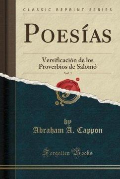 9780243994069 - Cappon, Abraham A.: Poesías, Vol. 1 - Book