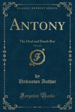 9780243987078 - Author, Unknown: Antony, Vol. 2 of 2 - Liv