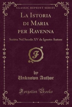 9780243989676 - Author, Unknown: La Istoria di Maria per Ravenna - Liv
