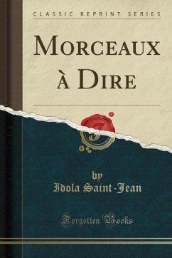9780243994335 - Saint-Jean, Idola: Morceaux à Dire (Classic Reprint) - Book