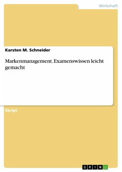 Markenmanagement. Examenswissen leicht gemacht (eBook, PDF)