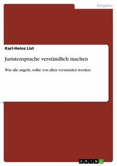 Juristensprache verständlich machen (eBook, PDF)