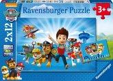 Ravensburger 07586 - Paw Patrol und Ryder, 2x12 Teile, Puzzle