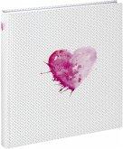 Hama Lazise pink Buchalbum 29x32 50 weiße Seiten Hochzeit 2361