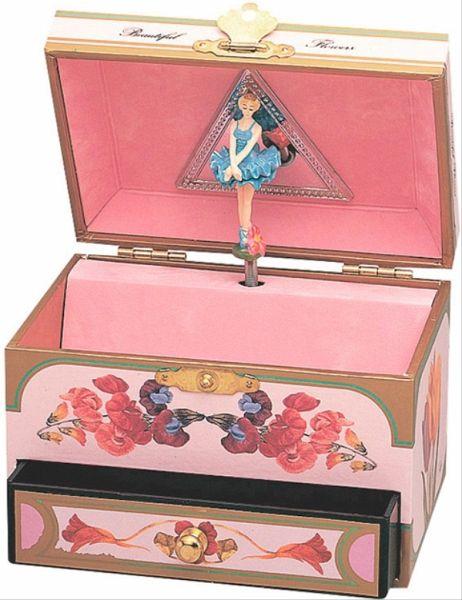 spieldose schublade blumen ballerina. Black Bedroom Furniture Sets. Home Design Ideas