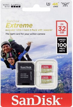 SanDisk microSDHC ActionSC 32GB 2x Extr.100MB SDSQXAF-032G-GN6AT