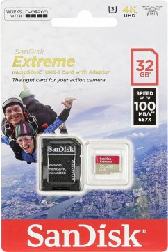 SanDisk microSDHC Action SC 32GB Extr.100MB A1 SDSQXAF-032G-GN6AA
