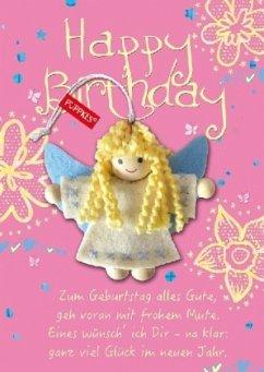 Happy Birthday Blumen Schutzengel
