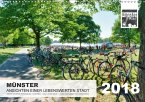 MÜNSTER :: Ansichten einer lebenswerten Stadt (Wandkalender 2018 DIN A3 quer)