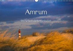 Amrum - Eine farbenfrohe Insellandschaft (Wandkalender 2018 DIN A3 quer)