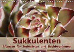 Sukkulenten - Pflanzen für Steingärten und Dachbegrünung (Wandkalender 2018 DIN A4 quer)