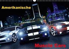 Amerikanische Muscle Cars (Wandkalender 2018 DIN A3 quer)