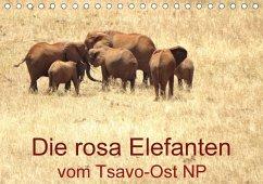 Die rosa Elefanten vom Tsavo-Ost NP (Tischkalender 2018 DIN A5 quer)