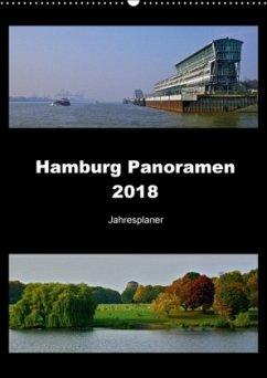Hamburg Panoramen 2018 . Jahresplaner (Wandkalender 2018 DIN A2 hoch)