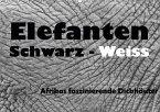 Elefanten Schwarz - Weiss (Wandkalender 2018 DIN A2 quer)