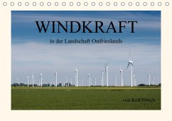 Windkraft in der Landschaft Ostfrieslands (Tischkalender 2018 DIN A5 quer)