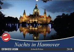 Nachts in Hannover (Wandkalender 2018 DIN A2 quer)