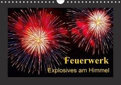 Feuerwerk - Explosives am Himmel (Wandkalender 2018 DIN A4 quer)