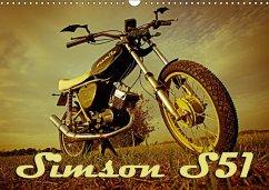 Simson S51 (Wandkalender 2018 DIN A3 quer)