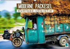 Moderne Packesel: kuriose Logistik (Wandkalender 2018 DIN A2 quer)