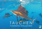 Tauchen: Wunderbares tiefblaues Meer (Wandkalender 2018 DIN A4 quer)