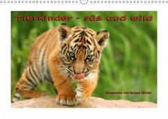 Tierkinder - süß und wild (Wandkalender 2018 DIN A3 quer)
