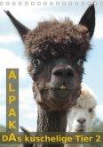 Alpaka, das kuschelige Tier 2 (Tischkalender 2018 DIN A5 hoch)