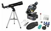 Bresser Teleskop + Mikroskop kompakt mit Smartphonehalter