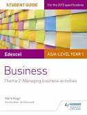 Edexcel AS/A-level Year 1 Business Student Guide: Theme 2: Managing business activities (eBook, ePUB)