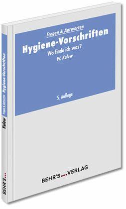 hygiene vorschriften von wolfgang kulow fachbuch b. Black Bedroom Furniture Sets. Home Design Ideas