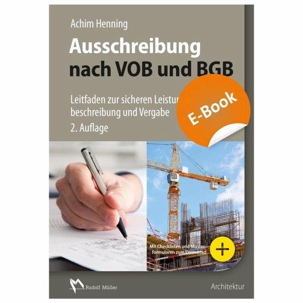 Ausschreibung Nach Vob Und Bgb E Book Pdf Ebook Pdf Von Achim