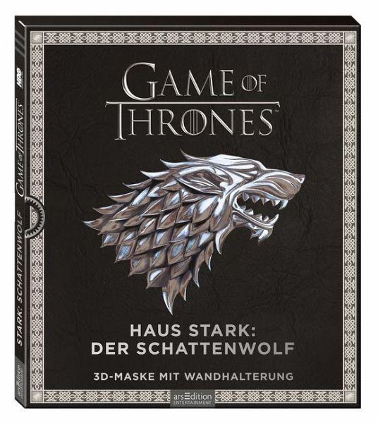 Game of Thrones - Haus Stark: Schattenwolf, 3D-Maske mit Wandhalterung
