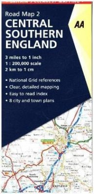 AA Road Map Britain Straßenkarte Central South England
