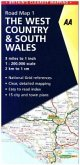 AA Road Map Britain The West Country& South Wales