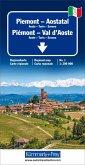 Kümmerly+Frey Karte Piemont - Aostatal / Piemont - Val d' Aoste Regionalkarte