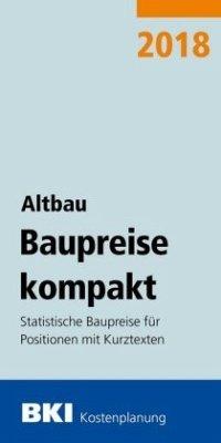 BKI Baupreise kompakt Altbau 2018