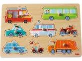 HABA 301940 - Greifpuzzle Fahrzeuge, 8 Teile