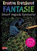 Fantasie: Set mit 10 Kratzbildern, Anleitungsbuch und Holzstift / Kreative Kratzkunst Bd.6