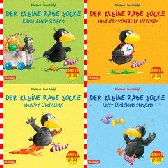 Maxi-Pixi Serie Nr. 57: 4er Bundle: Rabe Socke - Moost, Nele