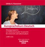 Übungsprogramm zur Verbesserung der Aussprache für Unterricht und Selbststudium, MP3-CD / Aussprachekurs Deutsch