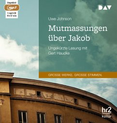 Mutmassungen über Jakob, 1 MP3-CD - Johnson, Uwe