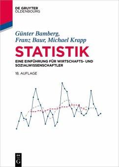Statistik (eBook, PDF) - Bamberg, Günter; Baur, Franz; Krapp, Michael