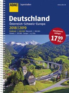 ADAC Superstraßen Deutschland, Österreich, Schweiz & Europa 2018/2019 1:200 000