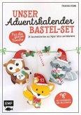 Unser Adventskalender Bastel-Set - Für die ganze Familie: Mit Papierbogen und Anleitungen
