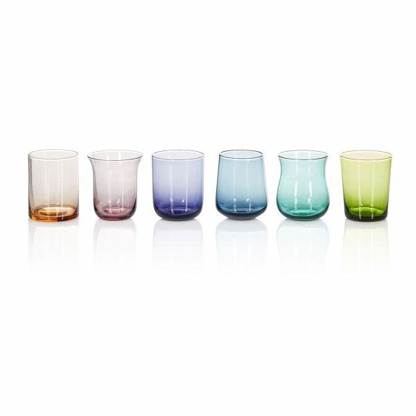 Wasserglas Set 6 Tlg Bunt Portofrei Bei Bucher De