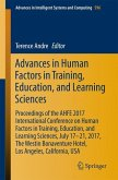 Advances in Human Factors in Training, Education, and Learning Sciences