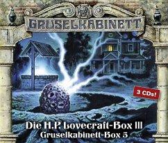 Gruselkabinett-Box 5, 3 Audio-CDs - Lovecraft, Howard Ph.
