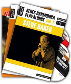 Blues Harmonica Playalongs, 3 Bde. + 3 Audio-CDs - Baker, Steve